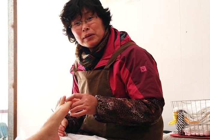爪切りは奥様の担当。実は、マッサージより楽に儲かる!