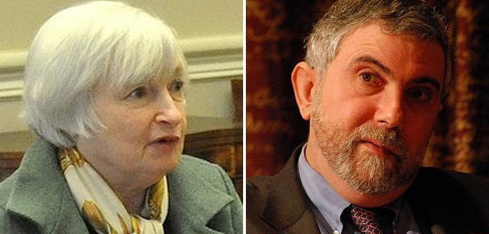 From Wikimedia Commons: Janet Yellen | Paul Krugman
