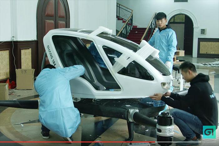 チャイナ驚異のメカニズム。空飛ぶ「ドローンタクシー」開発に着手!