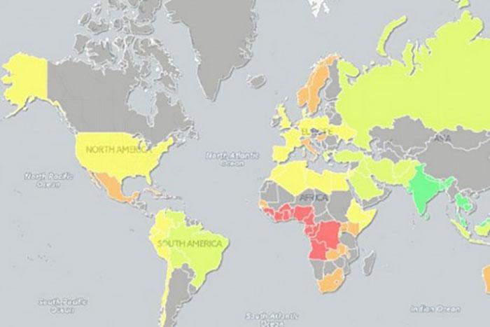 各国平均サイズが一目瞭然のチンチン世界地図完成!日本は最下位に沈むのか?