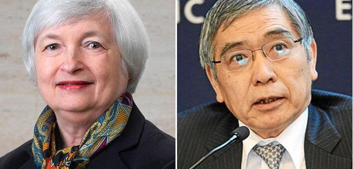 From Wikimedia Commons Janet Yellen | Haruhiko Kuroda