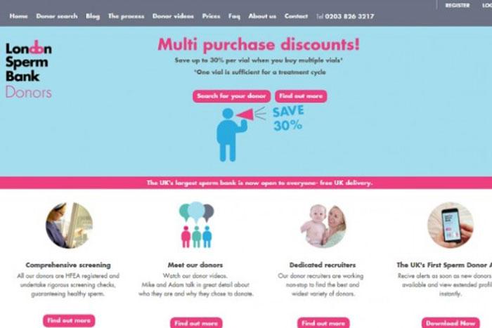 「パパ」を選んで買い物かごへ!? 英国の精子バンクがスマホアプリ提供開始