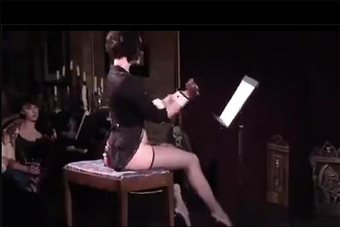 芸術の秋だから…美女が「生尻」でベートーベン『運命』を演奏する動画!