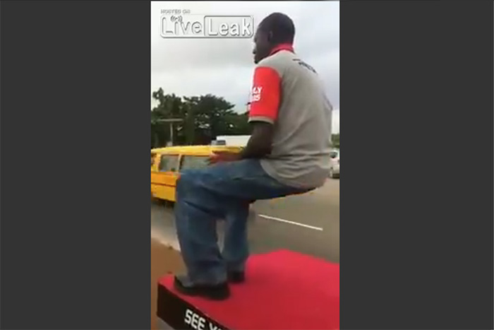 足組みしても全くブレない!ケニア人男性の「空気イス」が達人の域【動画】