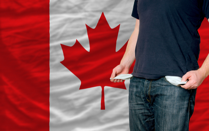カナダの景気は米国以上の悪化!破産申請が前年同月比で15.8%も増加していた