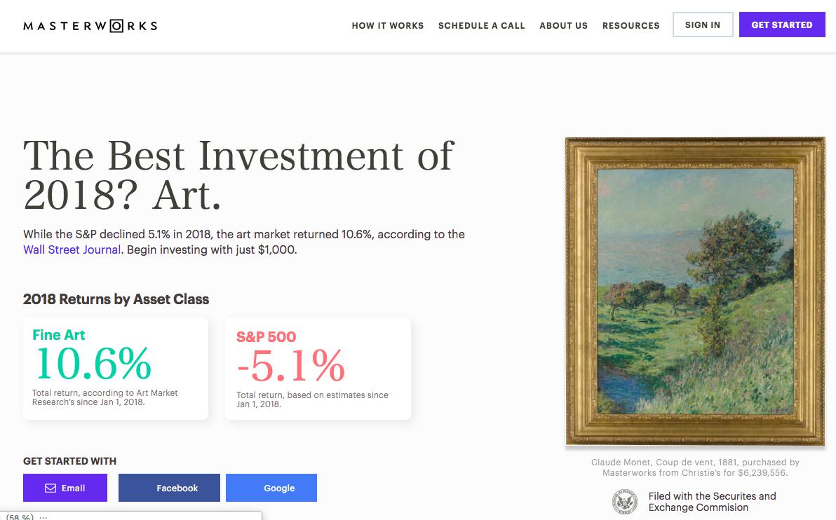 Masterworks - Learn to Invest in Fine Art:https://www.masterworks.io/