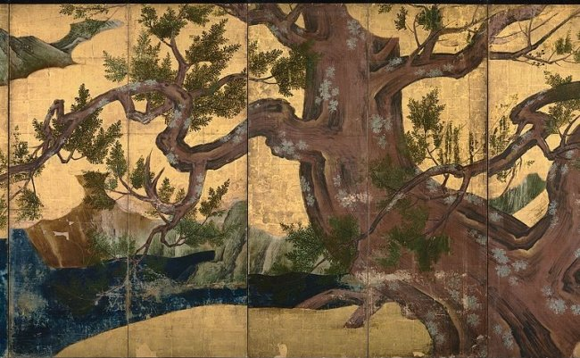 Kano_Eitoku_-_Cypress_Trees