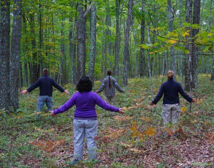 森の中に身を委ねて、瞑想中?