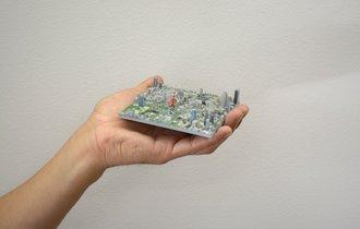 東京の風景がジオラマに。3Dプリンターで再現した立体型マップ