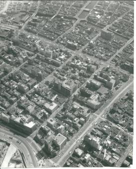 昭和28年(1953年)頃。銀座上空から航空写真