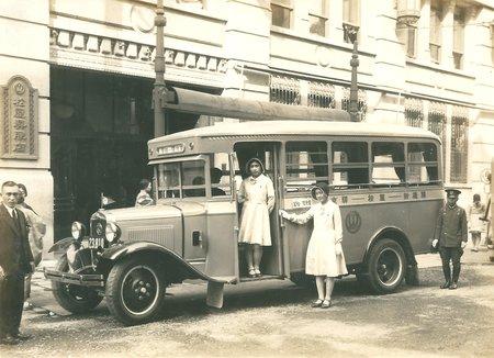 昭和6年(1931年)頃。顧客送迎自動車