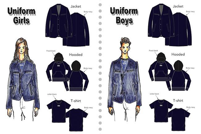 制服をデザインしたのは「和牛マフィア」の制服も手掛けた丸本達彦氏。Tシャツとパーカ、ジャケットのラインアップで、年齢やシーンを問わないデザインに仕上がっている