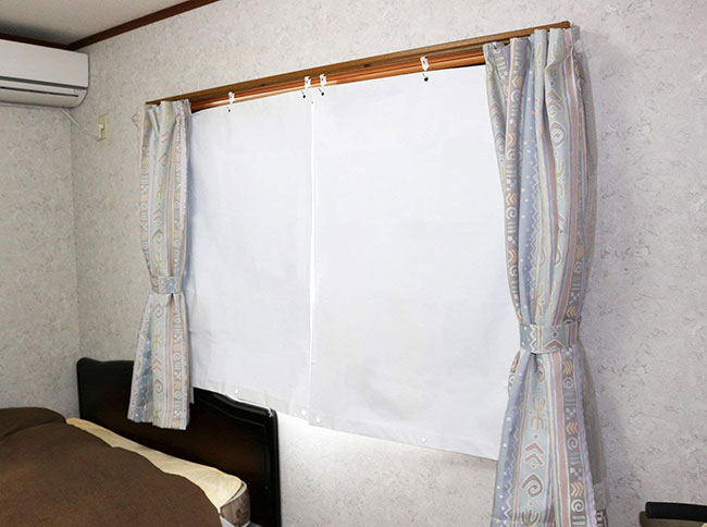 冷気ブロック-温度差-19.2℃-室内用スクリーン-UV・遮光共に98%-カット-エコ-スクリーン(幅90X丈120cm)