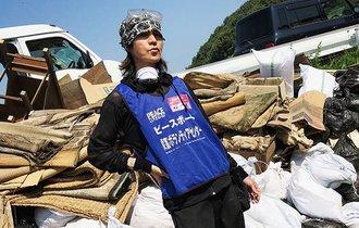 SUGIZOさん真備町で現場監督に。ボランティア参加呼びかけに感動