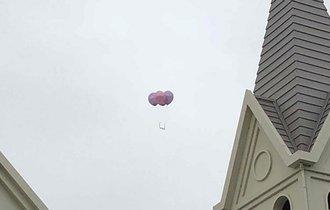 【速報】メガネが風船に乗って飛ばされました。探してください!