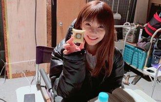 倉科カナ、差し入れスイーツを片手に「幸せです」