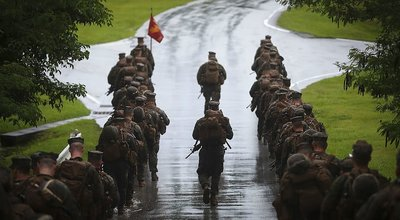 U.S._Marines_with_Alpha_Company,_1st_Battalion,_3rd_Marine_Regiment,_conduct_a_movement_to_Range_1_aboard_Camp_Hansen,_Okinawa,_Japan,_June_14,_2017
