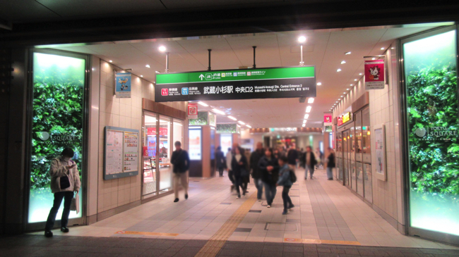 武蔵小杉駅中央口2を出れば眼前にセレブなタワマン群が広がる