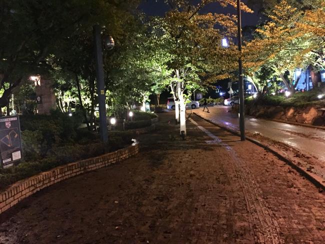 10月14日、水が引いた武蔵小杉界隈