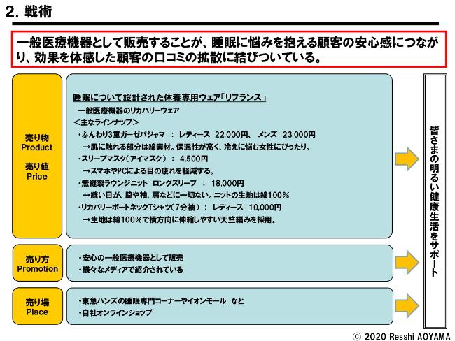 図表2「小島衣料戦術-1」