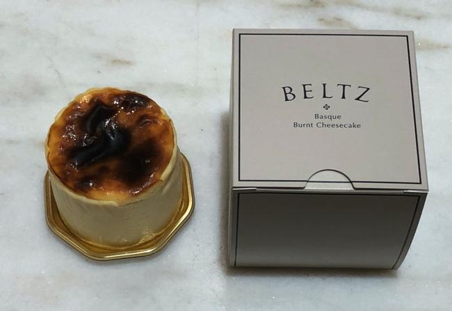 ベルツのバスクチーズケーキ 7cm(650円、税別)