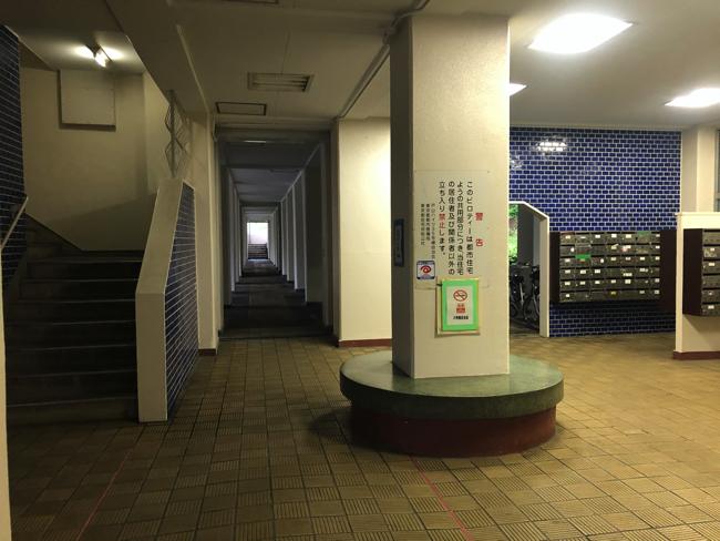 35号棟の1階共用部