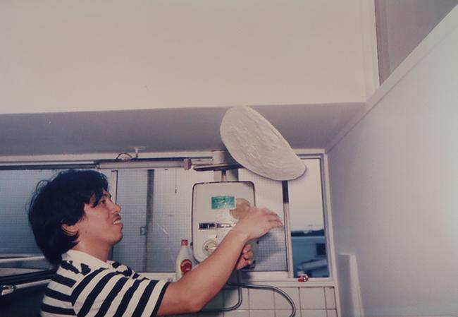 ピザ屋を経営し始めた当時の滝沢(80年代前半頃)