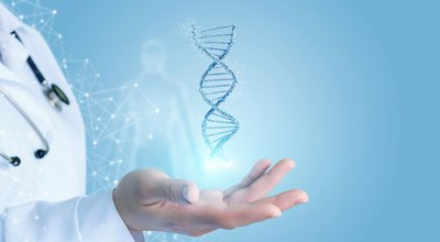 Doctor,Hand,Showing,Dna,.,Concept,Of,Research,And,Testing.