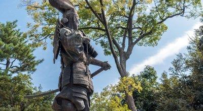 The,Statue,Of,Oda,Nobunaga,In,Kiyosu,City,,Japan