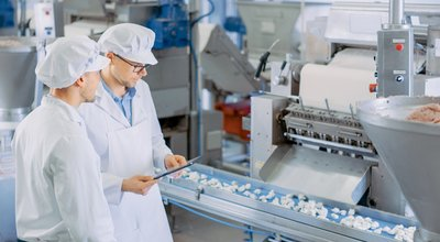 Two,Young,Male,Quality,Supervisors,Or,Food,Technicians,Are,Inspecting
