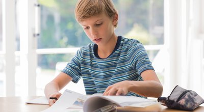 Young,School,Boy,Studying,At,Home.,Boy,Doing,Homework,In