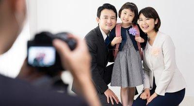 Asian,Family,Shooting,A,Commemorative,Photo.,Photo,Studio.